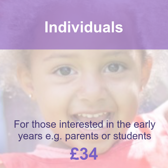 Individuals membership package Pre-school Learning Alliance