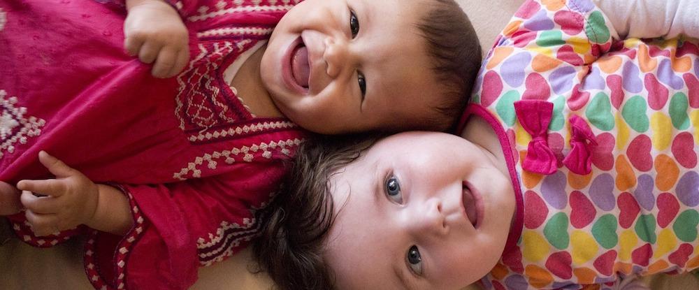 Babies smiling