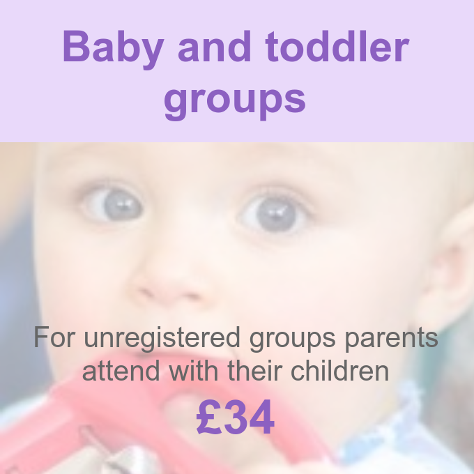 Baby and toddler group membership Pre-school Learning Alliance
