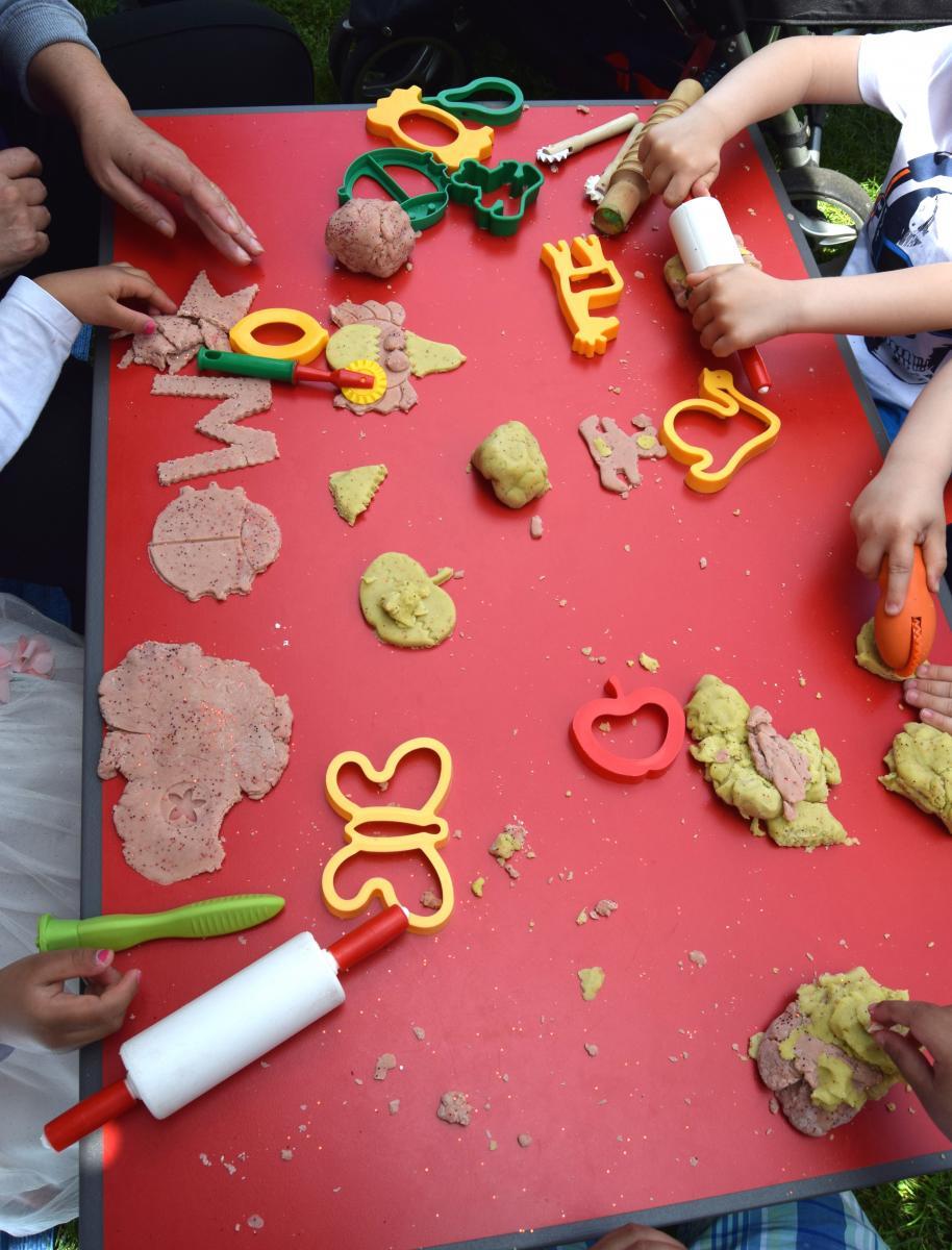 Children doing play-do