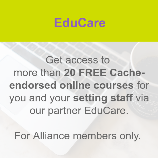 EduCare early years online training courses for members
