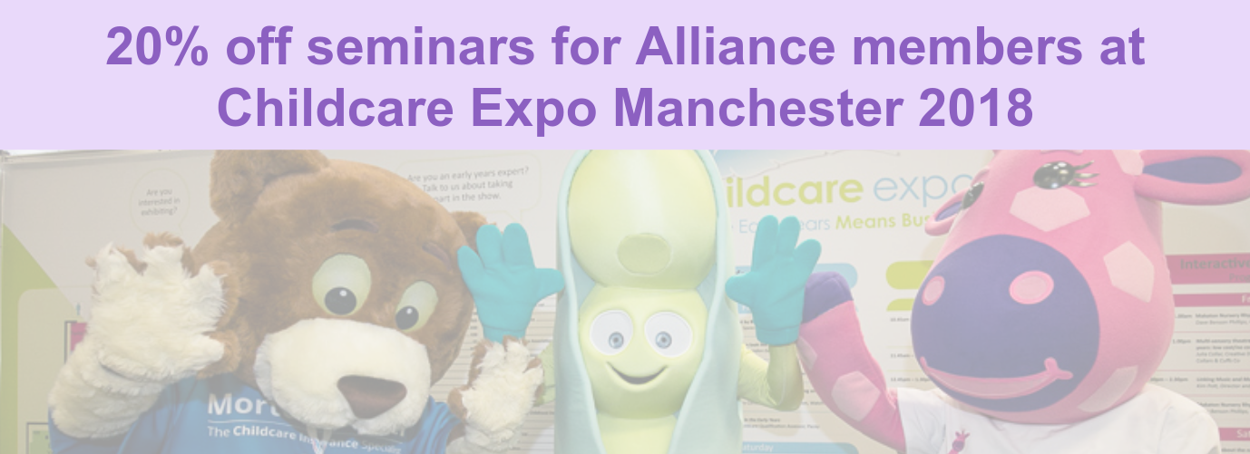 mascots at the Childcare Expo London 2018
