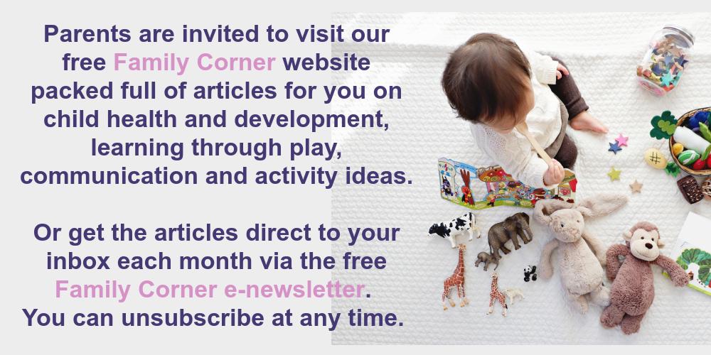 Family Corner website for parents