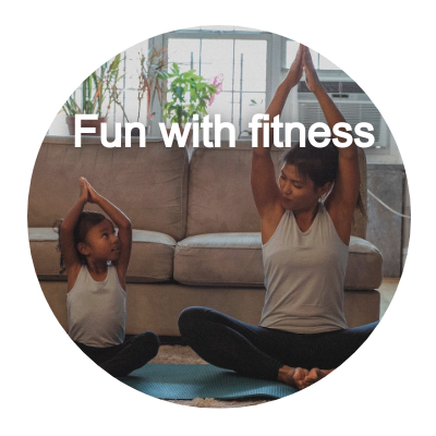 Fun with fitness button