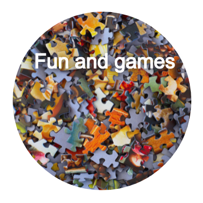 Fun and games button
