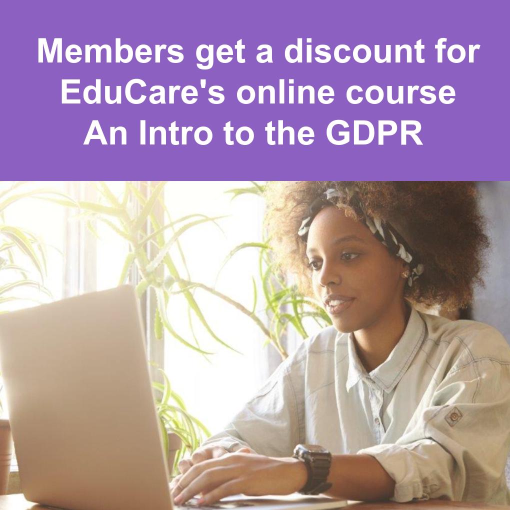 EduCare discount on GDPR online course