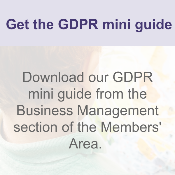 GDPR mini guide for early years settings