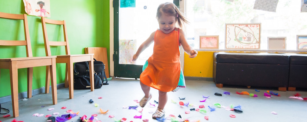 Nursery insurance: Girl playing at nursery