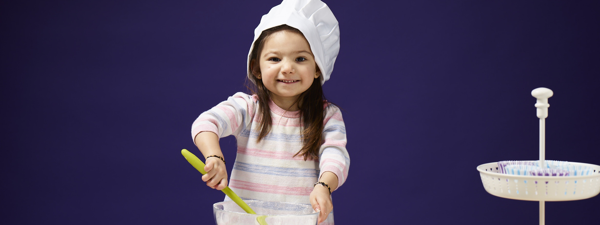 Maia has fun baking for Bake it Better campaign