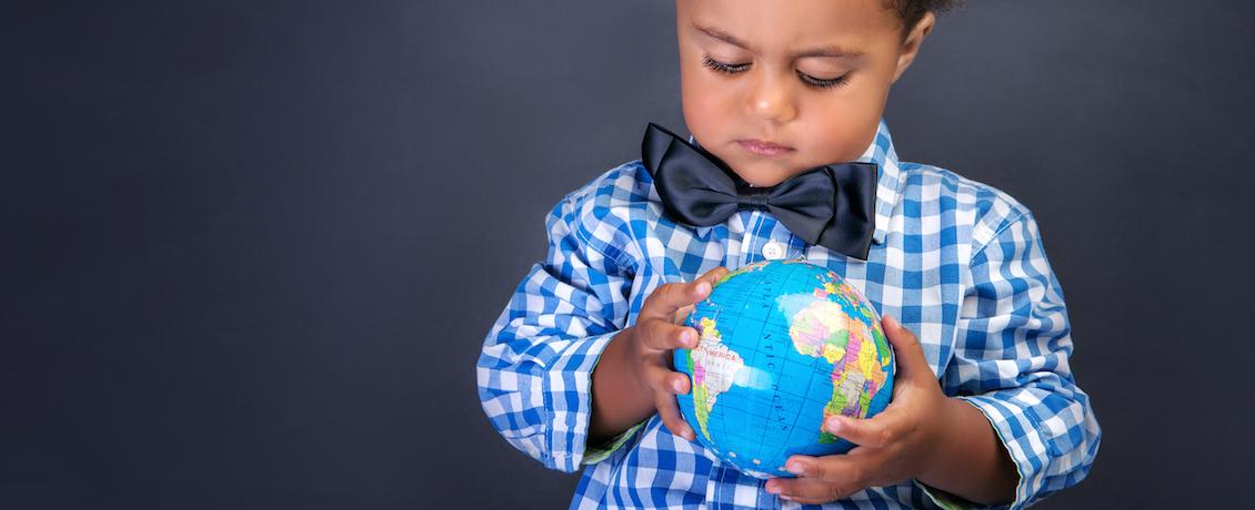 Boy and world