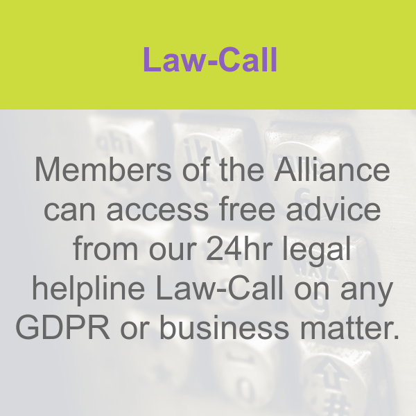 Law-Call for GDPR advice