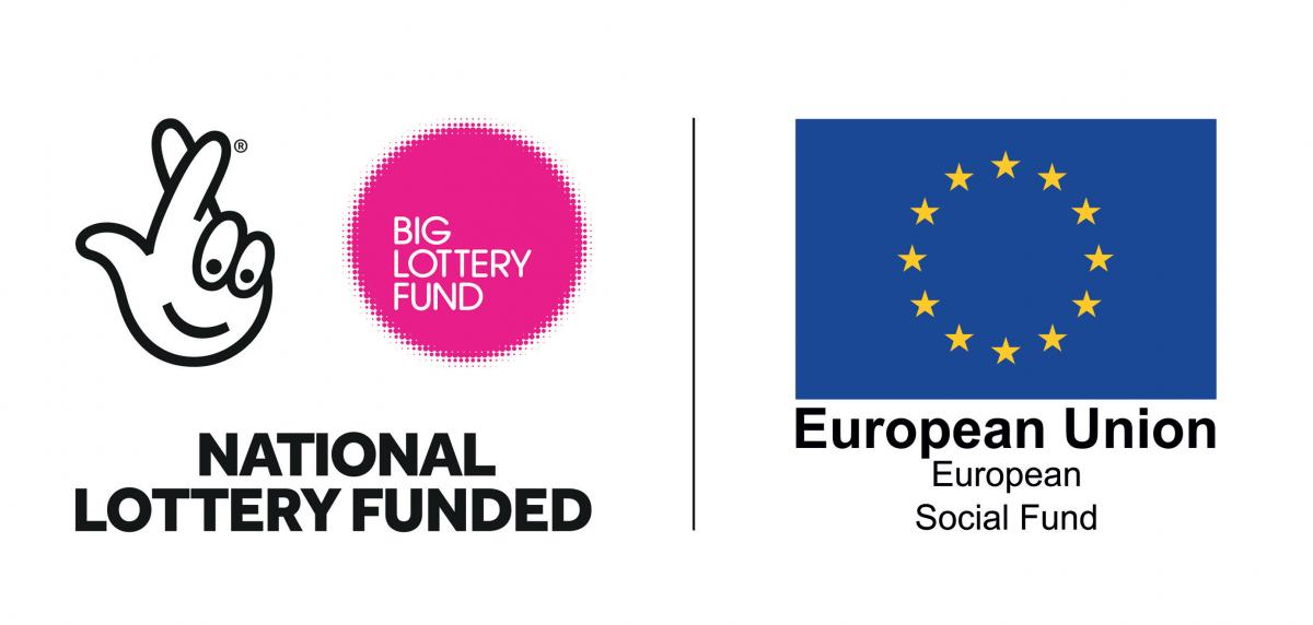 National Lottery Funded and EU logo