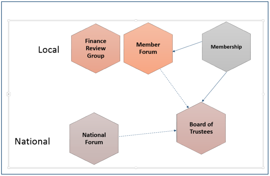 New governance structure diagram