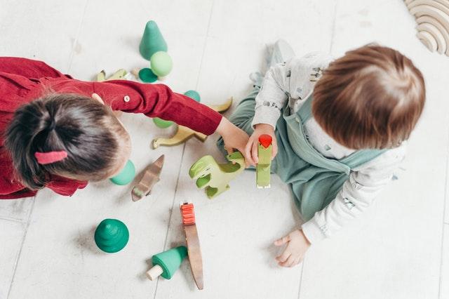 children playing nurseries