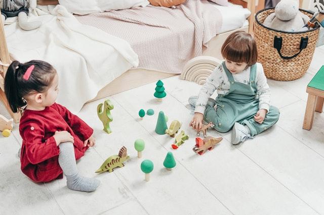 children playing nursery