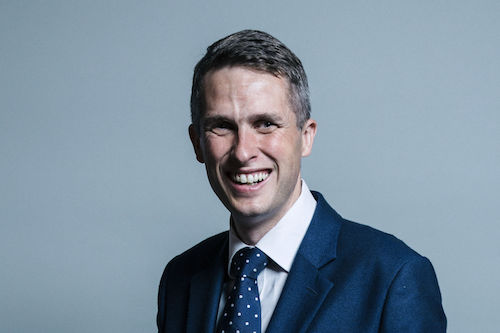 Gavin Williamson Minister of Educatio