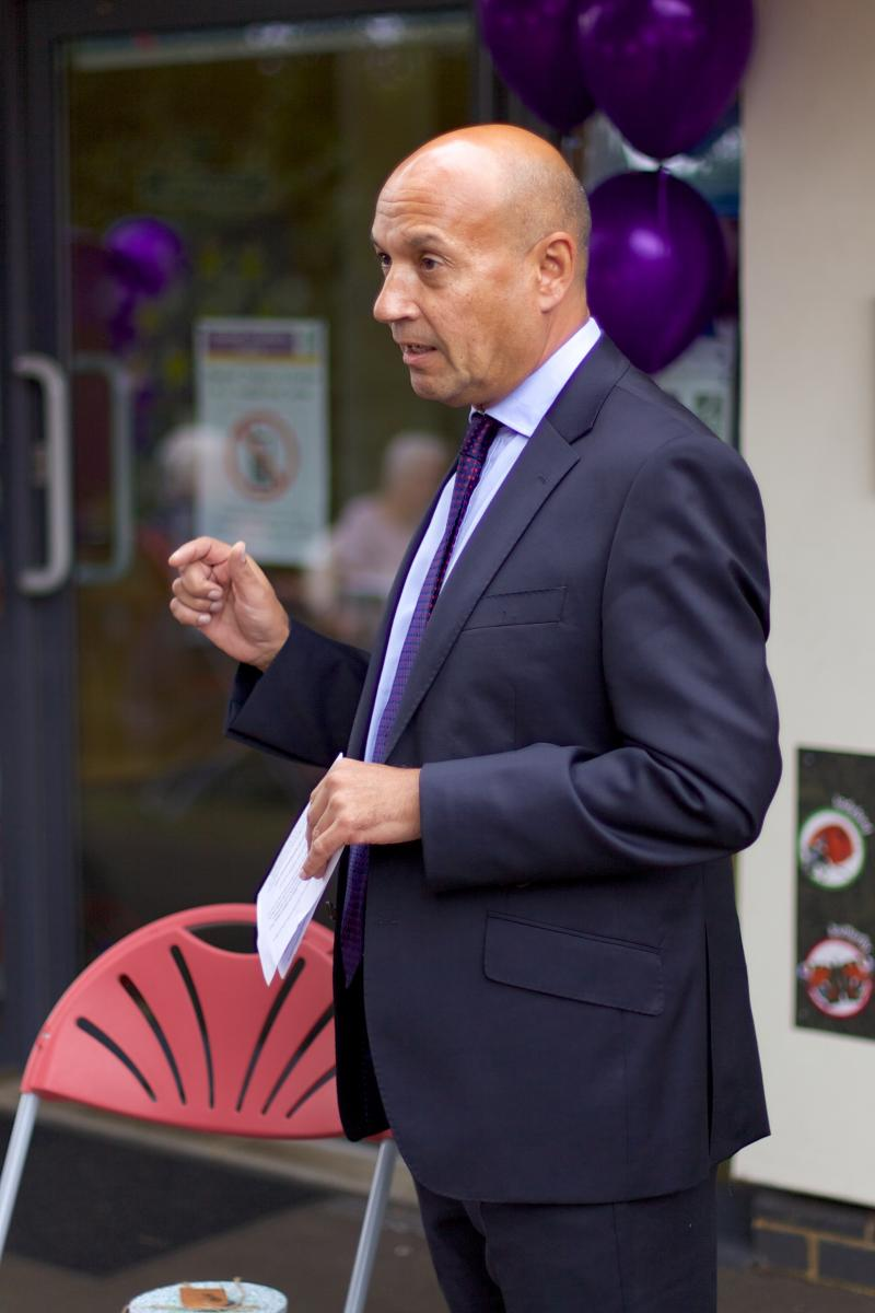 Alliance chief executive Neil Leitch speaks at an event