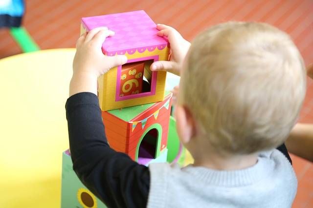 child playing nursery
