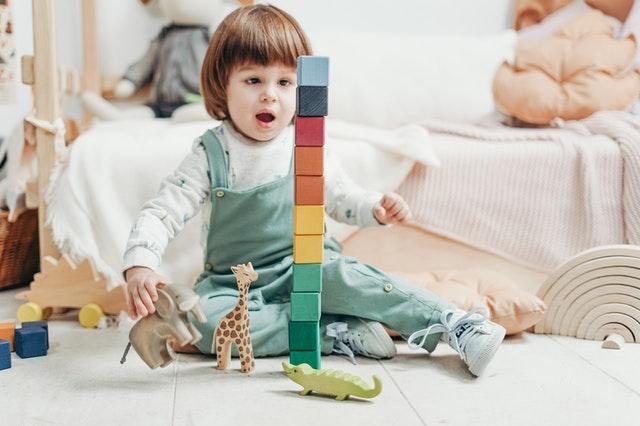 toddler nursery playing