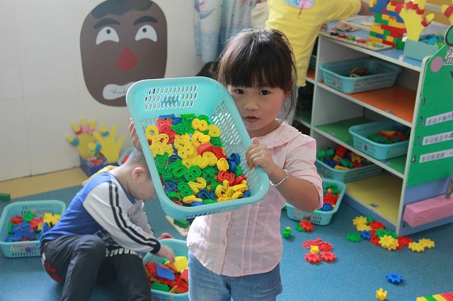 Girl early years setting puzzle