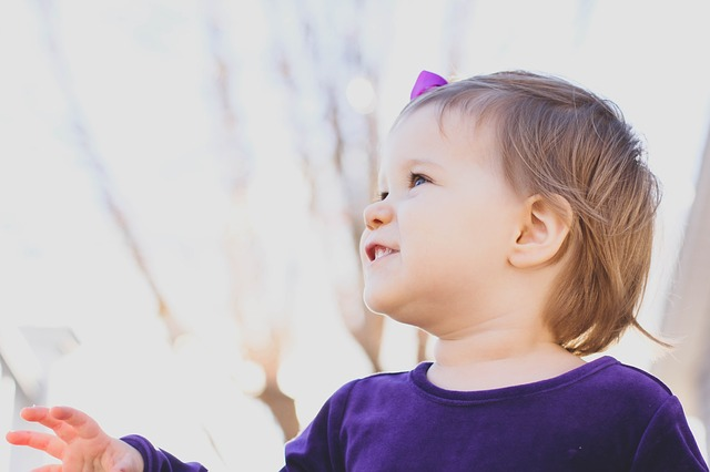 Toddler outdoors, government mental health report