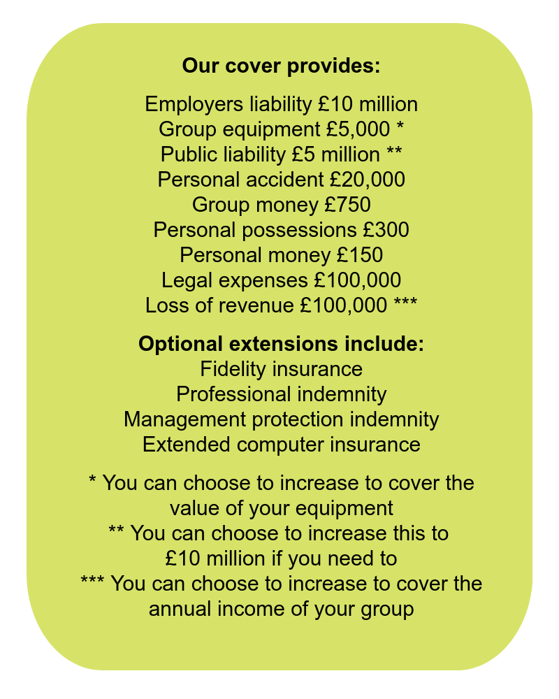 Insurance for playschemes and clubs