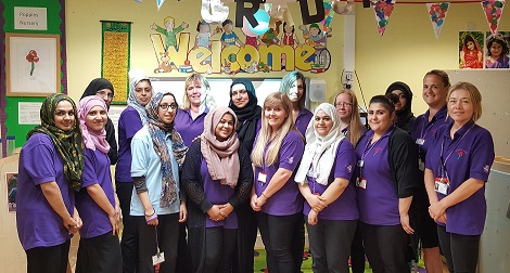 The staff team at Poppies nursery