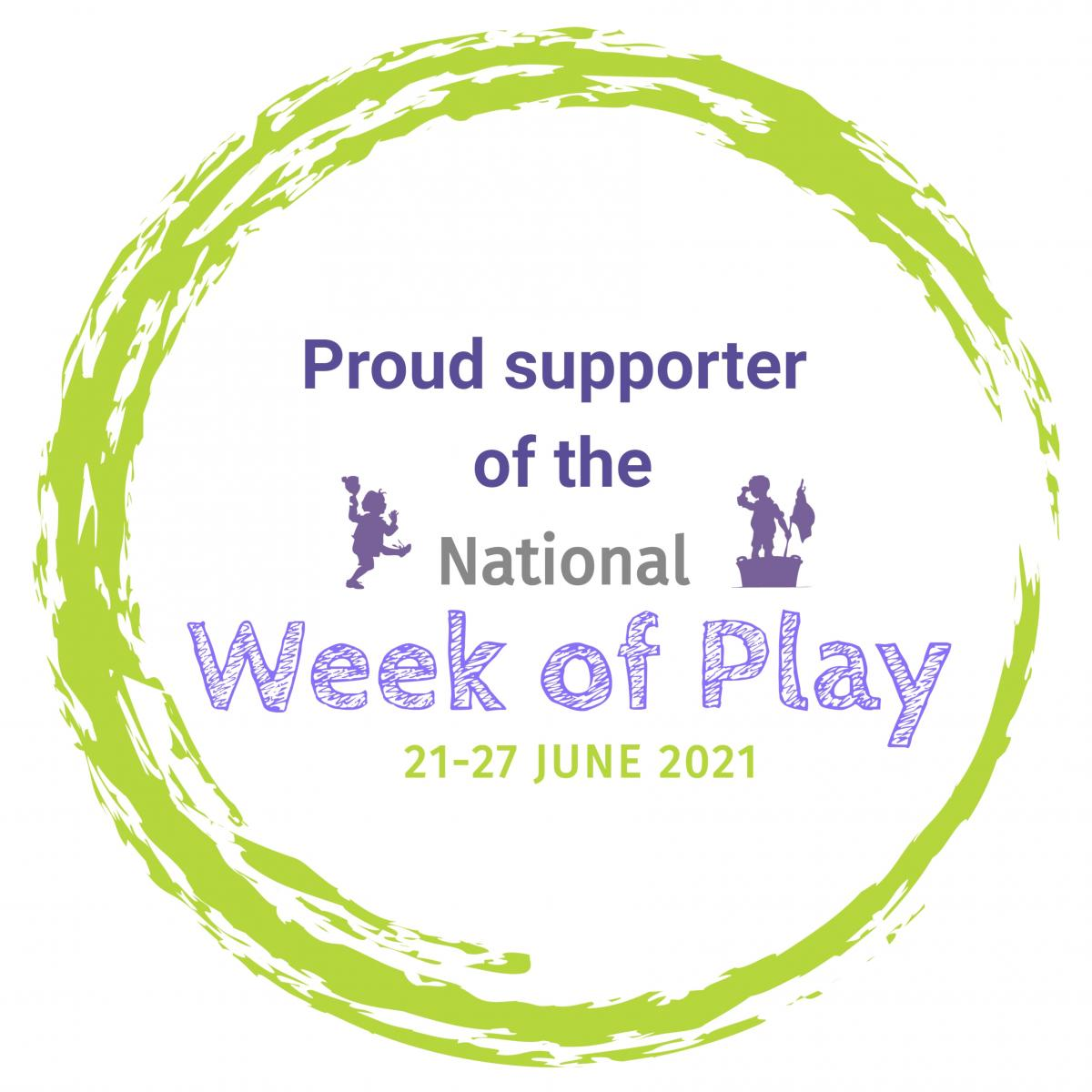 Proud supporter Play Week