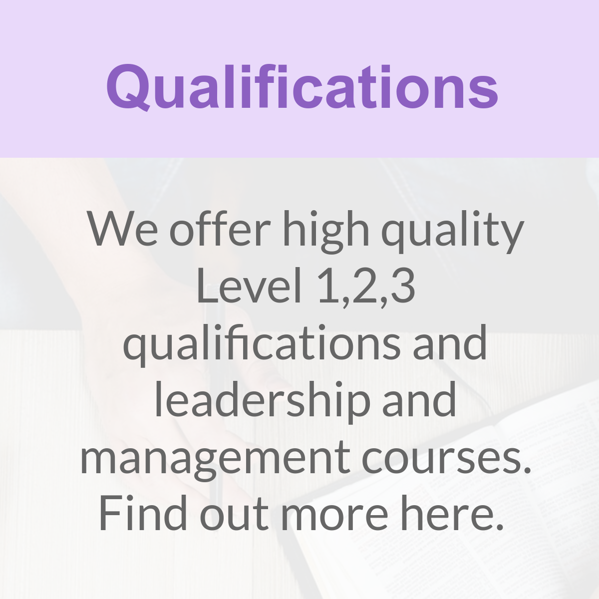 Early years qualifications