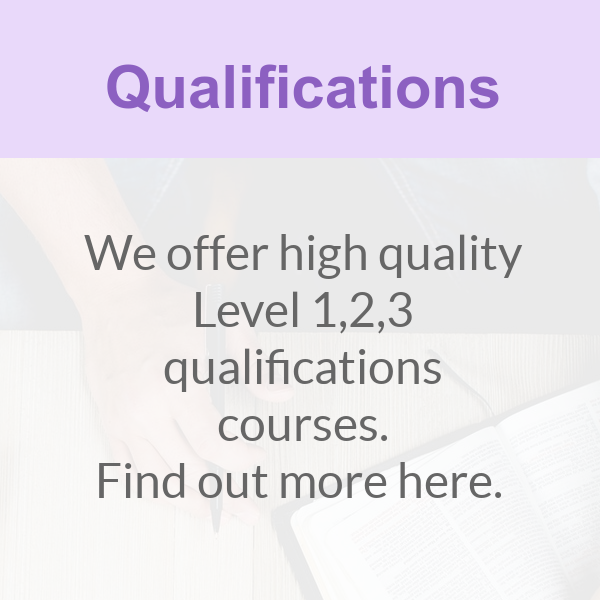 We offer qualifications courses