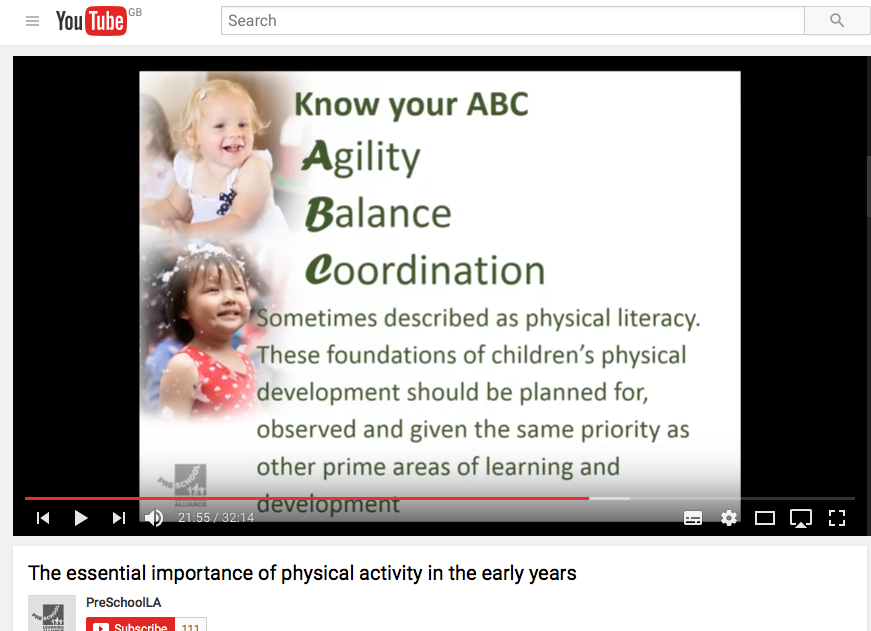 A screenshot of a Pre-school Learning Alliance webinar