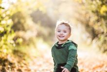 Boy walking childcare funding
