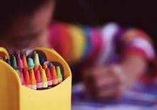 child crayons