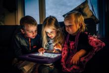Children using tablet computers