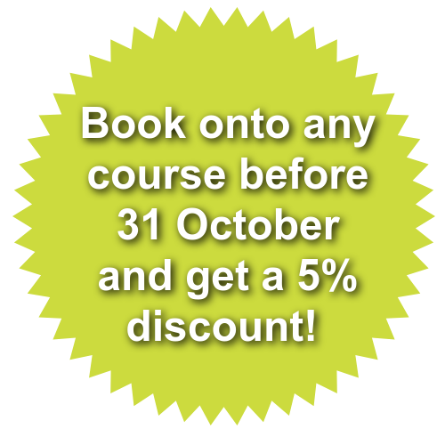 get 5% off if you book before October